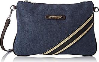 Womens Des03-tz-blue Cross-Body Bag Blue Bleu (Blue) Les Tropeziennes