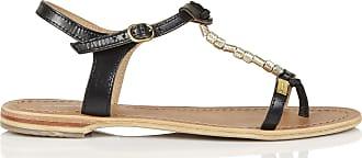 Sandales plates en cuir détail poulainLes Tropeziennes