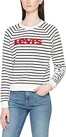 Levi's Relaxed Classic Crew, Sudadera para Mujer, Beige (Merced Cloud Dancer 2 0014), Large