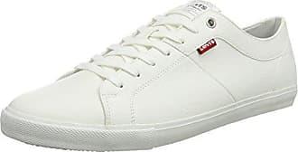 Levi'sMalibu - Zapatilla Baja Hombre, Blanco (Blanc (Brillant White 2) 2), 44