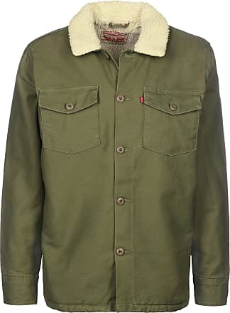Military Sherpa Shacket, Chaqueta para Hombre, Verde (Olive Night 0000), Medium Levi's