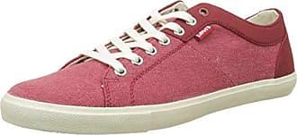 Levi'S Woods, Zapatillas Para Hombre, Rojo (Noir Regular Red), 42 EU