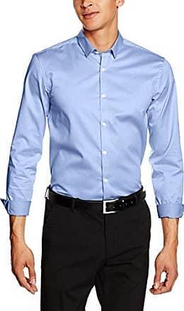 Plain Twill Stretch Shirt L/S, Camisa para Hombre, Blanco, XL Lindbergh