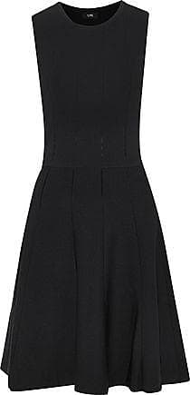 Line Woman Fluted Cutout Ponte Dress Black Size M Line