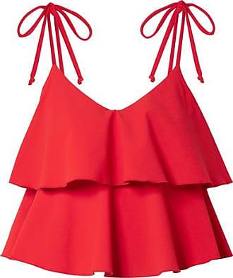 Haut De Bikini Asymétrique En Crêpe Stretch Arden - Jaune vifLisa Marie Fernandez