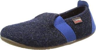 Living Kitzbühel T-Modell Fußball - Zapatillas de estar por casa de lana para niña azul Blau (nachtblau 590) 28