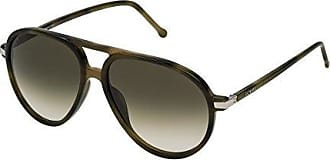Loewe SLW972M56092I, Gafas de Sol para Mujer, Shiny Green Havana, 56