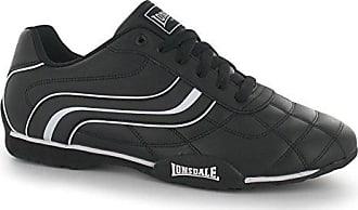 Lonsdale Camden Herren Turnschuhe Freizeit Schuhe Sportschuhe Fashion Sneaker Weiß/Schwarz 10 (44)