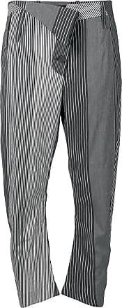 striped cropped trousers - White Lost And Found Rooms