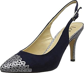 Lotus Grau & Zinn Glanz Arlind Sling-Back Pumps 6
