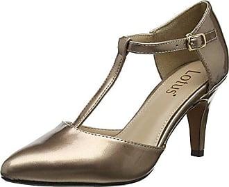 22405, Chaussures à Talons - Avant du Pieds Couvert Femme, Argent (Bronze Metall. 968), 39Marco Tozzi