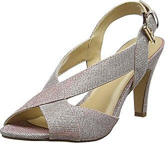 Arlind, Zapatos con Tira de Tobillo para Mujer, Beige (Natural/Gold Glitz NTR), 37 EU Lotus