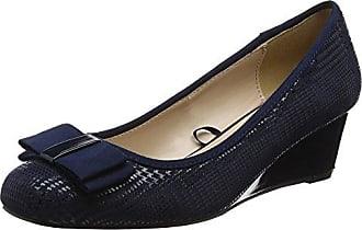 Lotus 50844 - Zapatos de Tacón con Punta Cerrada de Sintético Mujer, Color Azul, Talla 41