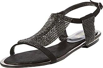 50847, Bout Ouvert Femme - Noir - Noir (Black/Diamante BLK), 40Lotus