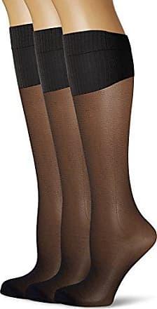 Womens Gambaletto Opaco Style Socks, Nero (0hz/Noir Cd0hz), Einheitsgröße pack of 3 Lovable