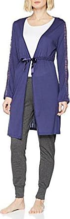 Motive Gown, Pyjama Femme, Bleu (Blu Indigo 0DR), MediumLovable
