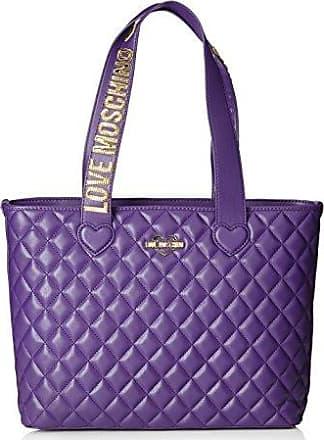 Borsa Quilted Nappa Pu Grigio, Womens Shoulder Bag, Grey, 11x27x32 cm (B x H T) Love Moschino