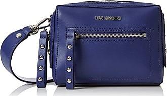 Borsa Small Grain Pu Blu, Womens Baguette, Blue, 8x13x19 cm (B x H T) Love Moschino