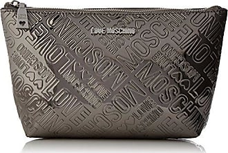 Bustina Embossed Pu Nero, Womens Clutch, Schwarz (Black), 14x24x7 cm (B x H T) Love Moschino