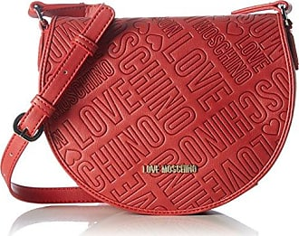 Borsa Calf Pu Rosso, Womens Shoulder Bag, Rot (Red), 17 x 28 10 cm (wxhxd) Love Moschino