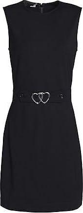 Love Moschino Woman Belted Ponte Mini Dress Black Size 40 Love Moschino