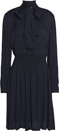 Love Moschino Woman Pintucked Poplin-paneled Crepe Mini Dress Black Size 42 Love Moschino