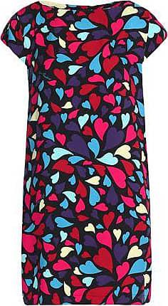 Love Moschino Woman Printed Faille Mini Dress Black Size 46 Love Moschino