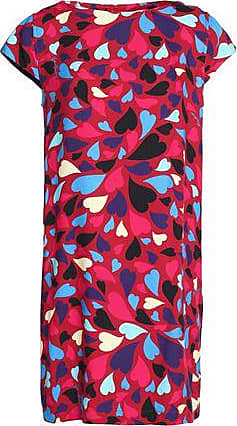 Love Moschino Woman Printed French-terry Mini Dress Red Size 46 Love Moschino