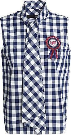 Love Moschino Woman Appliquéd Denim Shorts Royal Blue Size 44 Love Moschino