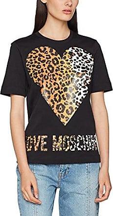 Womens Short Sleeve Love Applications T-Shirt Love Moschino