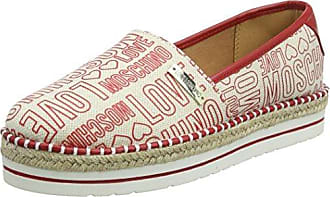 Womens Scarpad.13447/35 Can.Emb.BLT/Vt.BLT Loafers Love Moschino