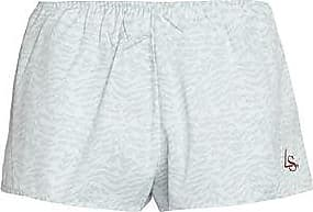 LOVE Stories Woman Embroidered Printed Crepe De Chine Pajama Shorts Mint Size S