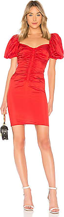 Shirred Button Up Dress in Red. - size M (also in L,S,XL,XS,XXS) LPA