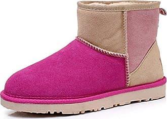 MEI&S Frauen Casuals Snow Boots Kurze u Warme Schuhe, Lila, 39