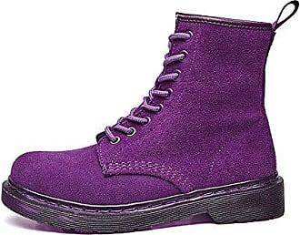 SHOWHOW Damen Martin Boots Kurzschaft Stiefel Mit Absatz Braun 45 EU
