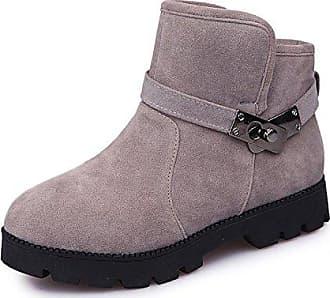MEI&S Frauen Freizeit Warme Dicke Unten Schnee Stiefel Schuhe, Schwarz, 39 LSM-Stiefel