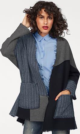Wollmantel »LAZIBE«, im Patchwork-Design, blau, marine-grau LTB Jeans