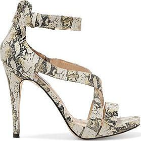 Lucy Choi London Woman Cole Snake-effect Leather Sandals Animal Print Size 37 Lucy Choi London