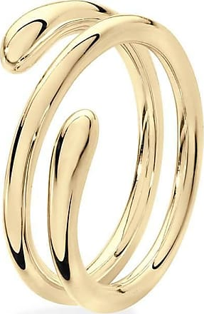 Lucy Quartermaine 2 Ring Drop Rose Gold Plated - UK T - US 9 5/8 - EU 61 1/2