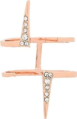 Luv AJ Double Pave Spike Ring in Metallic Copper