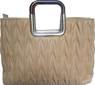 Frisch LYDC Damen Designer Gepolsterte Kunstleder Crossbody Schultertasche Gold Griff -- Beige LYDC London