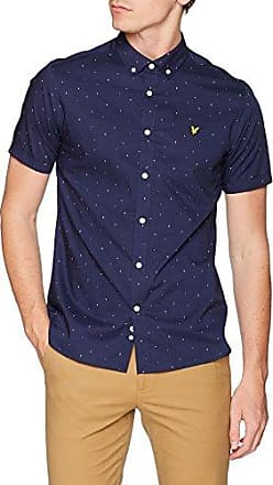 Chest Stripe Shirt, Camisa Casual para Hombre, Azul (Stonewash Blue), Large Lyle & Scott