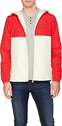 Colour Block Jacket, Chaqueta para Hombre, Rojo (Tomato Red), Large Lyle & Scott