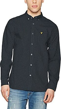 Oxford Stripe-Camisa Hombre Azul Azul (Marino) Large Lyle & Scott