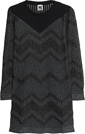 M Missoni Woman Metallic Broderie Anglais And Crochet Knit-paneled Top Pink Size 38 M Missoni