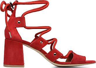 Zanpa Damen Mode Gladiator Heels Bootie Sandalen (33EU, Red)