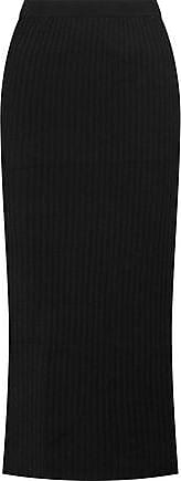Madeleine Thompson Woman Ribbed Wool And Cashmere-blend Midi Dress Charcoal Size XS Madeleine Thompson