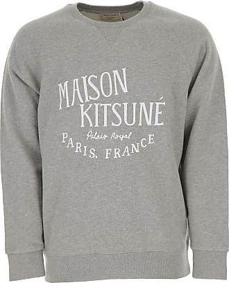 Sweatshirt for Men On Sale, Light Grey, Cotton, 2017, L M S XL Maison Kitsuné