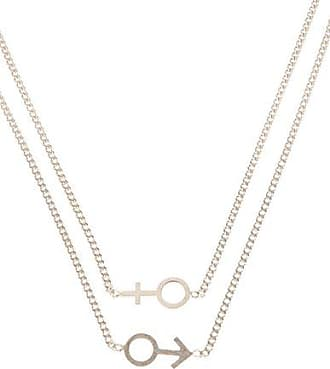 hoop detail inscribed necklace - Black Maison Martin Margiela