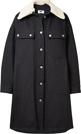Mm6 By Maison Margiela Woman Striped Satin-twill Shirt Gray Size 42 Maison Martin Margiela